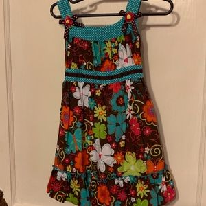 Youngland brown floral dress size 3T